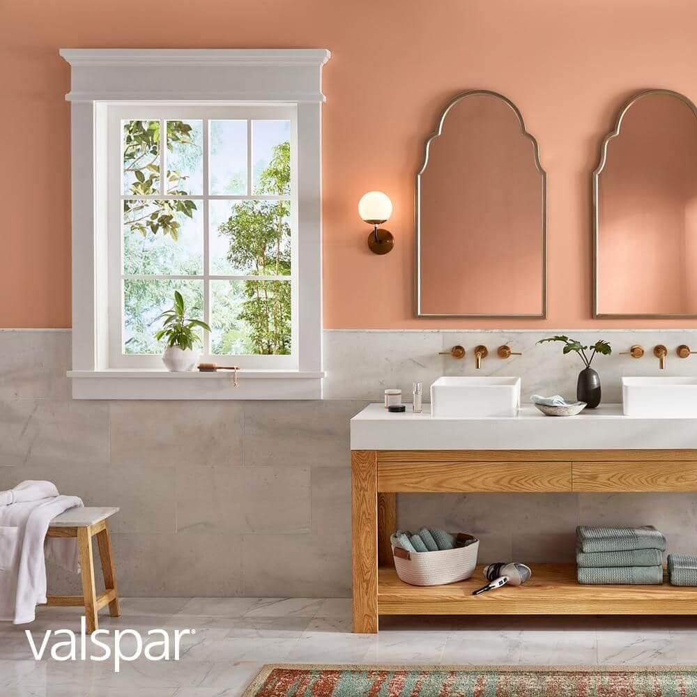 Итальянская ванная персикового цвета