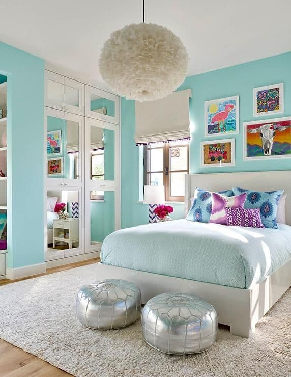 испанская бирюзовая спальня