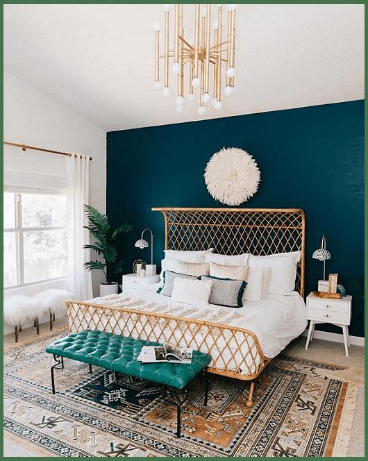 миланская бирюзовая спальня