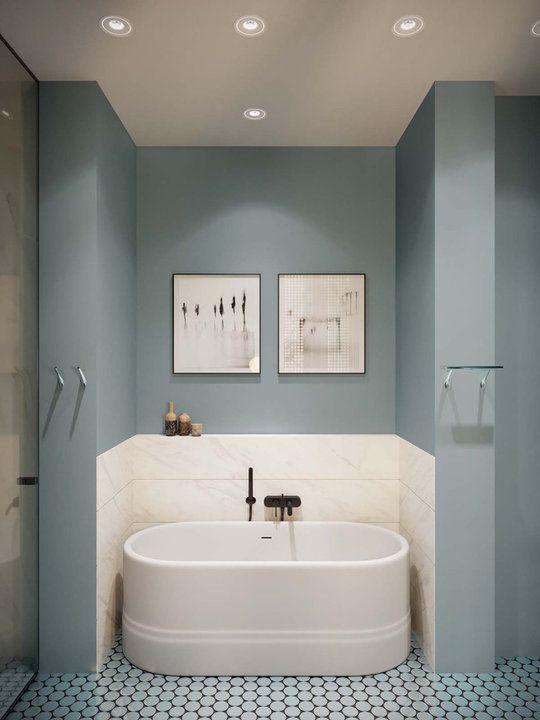 супердизайн фисташковой ванной