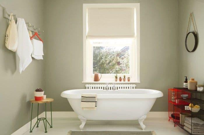 убранство фисташковой ванной